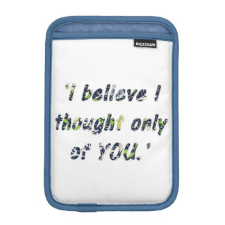 Pride and Prejudice Quote Customisable iPad Mini Sleeve