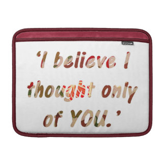 Pride and Prejudice Quote Customisable Sleeve For MacBook Air