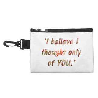 Pride and Prejudice Quote Double-Sided Accessories Bag