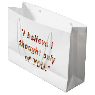 Pride and Prejudice Quote Double-Sided Large Gift Bag