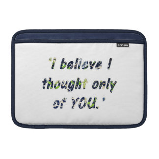 Pride and Prejudice Quote Double-Sided MacBook Air Sleeves
