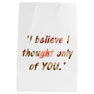 Pride and Prejudice Quote Double-Sided Medium Gift Bag