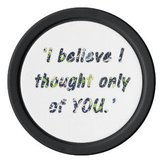 Pride and Prejudice Quote Double-Sided Poker Chip Set