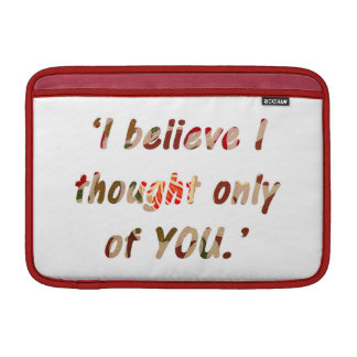 Pride and Prejudice Quote Double-Sided Sleeve For MacBook Air