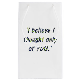 Pride and Prejudice Quote Double-Sided Small Gift Bag