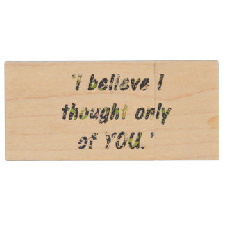 Pride and Prejudice Quote Double-Sided Wood USB 3.0 Flash Drive
