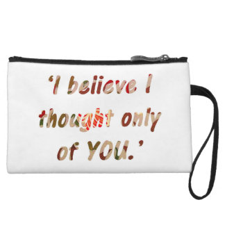 Pride and Prejudice Quote Double-Sided Wristlet Purses