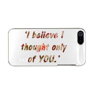 Pride and Prejudice Quote Incipio Feather® Shine iPhone 5 Case