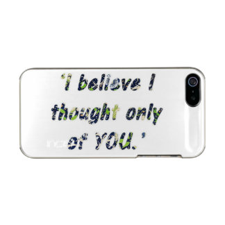 Pride and Prejudice Quote Incipio Feather® Shine iPhone 5 Case