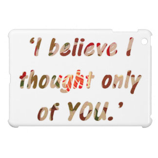 Pride and Prejudice Quote iPad Mini Cover