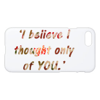 Pride and Prejudice Quote iPhone 8/7 Case