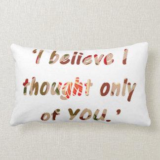 Pride and Prejudice Quote Lumbar Pillow