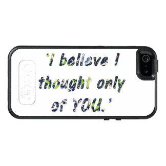 Pride and Prejudice Quote OtterBox iPhone 5/5s/SE Case