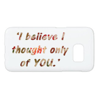 Pride and Prejudice Quote Samsung Galaxy S7 Case