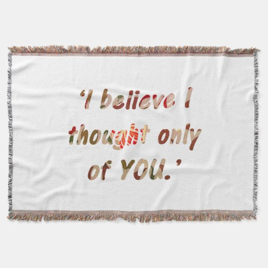 Pride and Prejudice Quote Throw