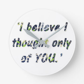 Pride and Prejudice Quote Wallclocks