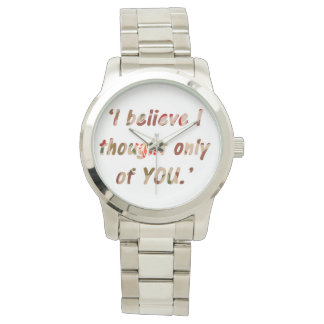 Pride and Prejudice Quote Wrist Watch