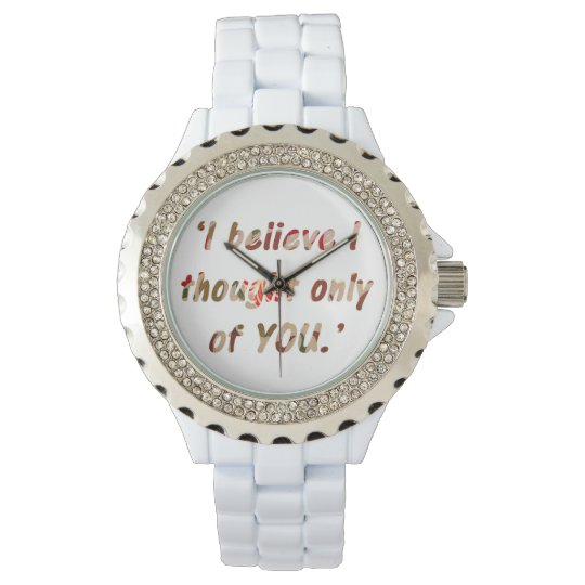 Pride and Prejudice Quote Wristwatch