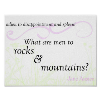 "Pride and Prejudice ""Rocks and Mountains"" Poster"