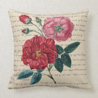 Pride and prejudice Rose Text romantic cushion