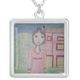 Pride and Prejudice Silver Plated Necklace
