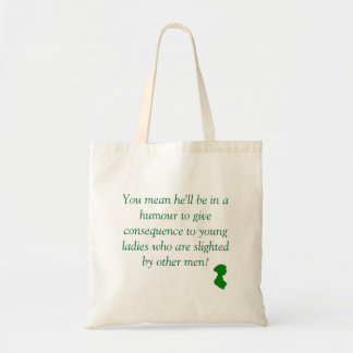 Pride and Prejudice: Slighted by Other Men Tote Bag