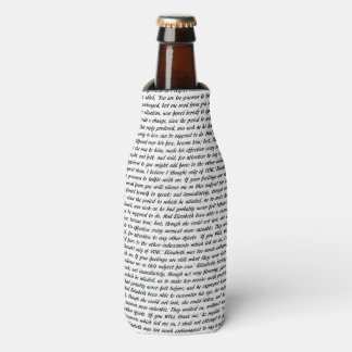 Pride and Prejudice Text Bottle Cooler