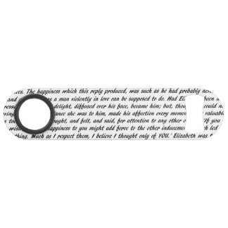 Pride and Prejudice Text Double-Sided Bar Key