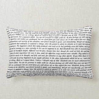 Pride and Prejudice Text Double-Sided Lumbar Pillow