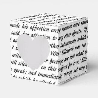 Pride and Prejudice Text Favor Box