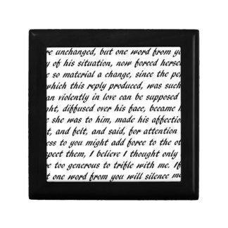 Pride and Prejudice Text Gift Box