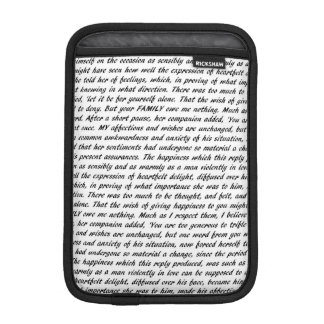 Pride and Prejudice Text iPad Mini Sleeves