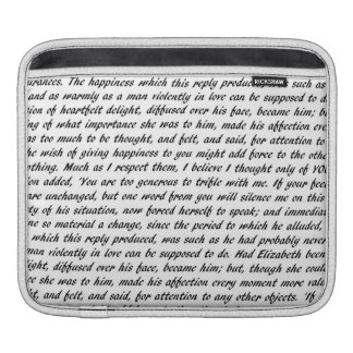 Pride and Prejudice Text iPad Sleeve