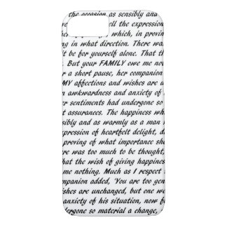 Pride and Prejudice Text iPhone 7 Case