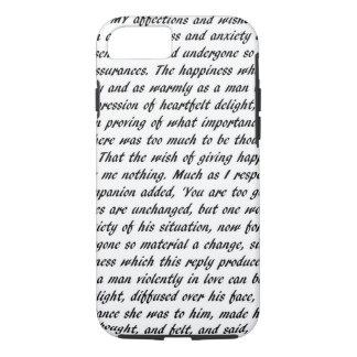 Pride and Prejudice Text iPhone 8/7 Case