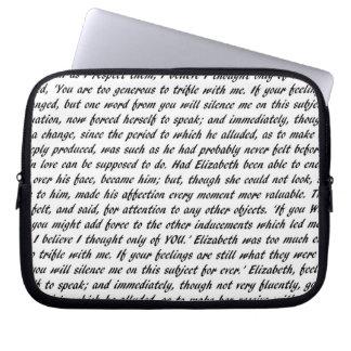 Pride and Prejudice Text Laptop Sleeve