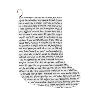 Pride and Prejudice Text Large Christmas Stocking