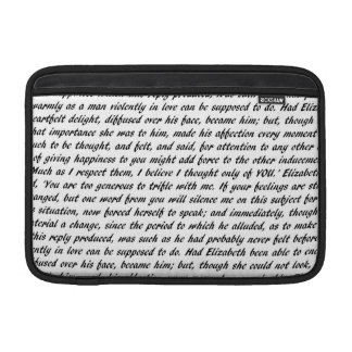 Pride and Prejudice Text MacBook Sleeve