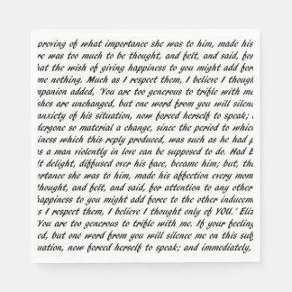Pride and Prejudice Text Napkin