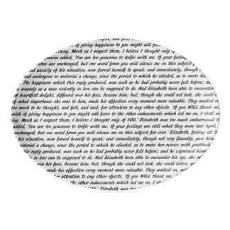 Pride and Prejudice Text Porcelain Serving Platter