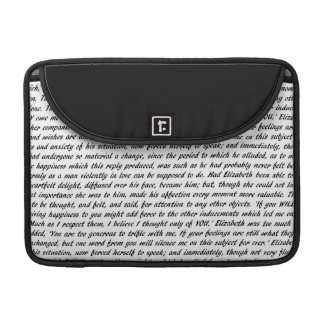 Pride and Prejudice Text Sleeve For MacBook Pro
