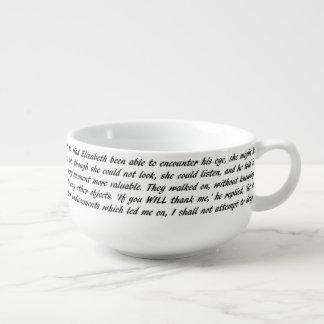 Pride and Prejudice Text Soup Mug