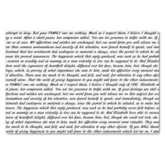Pride and Prejudice Text Tissue Paper