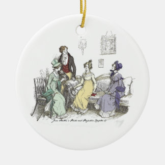 Pride and Prejudice - The Netherfield Ball Invitat Round Ceramic Ornament
