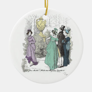 Pride and Prejudice - The Path Admitted Only Three Ceramic Ornament