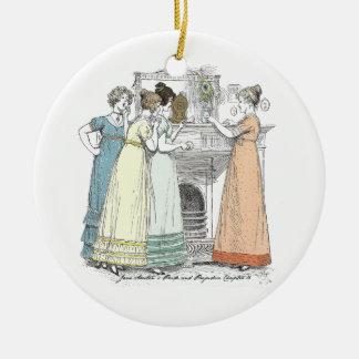 Pride and Prejudice - Waiting For The Gentlemen Ceramic Ornament