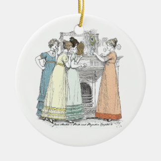 Pride and Prejudice - Waiting For The Gentlemen Round Ceramic Ornament