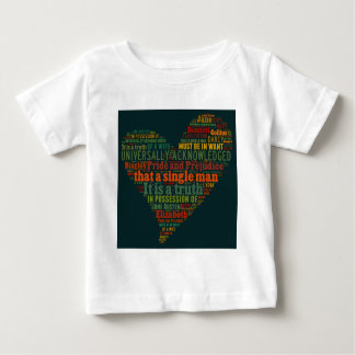 Pride and Prejudice Word Cloud Baby T-Shirt