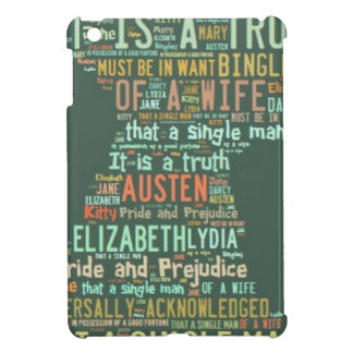 Pride and Prejudice Word Cloud Cover For The iPad Mini