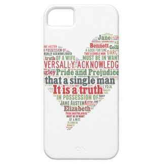 Pride and Prejudice Word Cloud iPhone 5 Cover